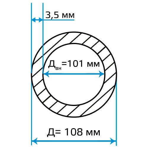 Труба ЭСВ 108x3.5