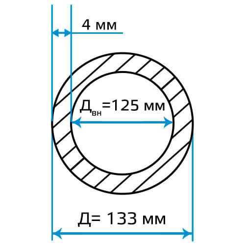 Труба ЭСВ 133x4