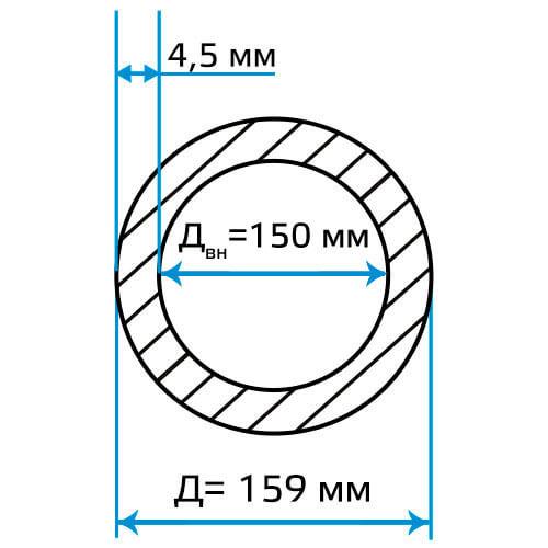Труба ЭСВ 159x4.5