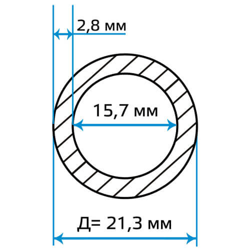 Труба водогазопроводная 15x2.8