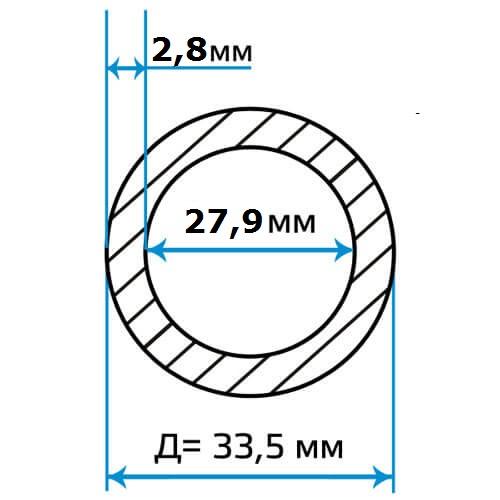Труба оцинкованная ВГП 25x2.8