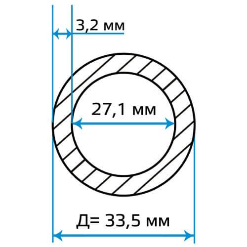 Труба водогазопроводная 25x3.2